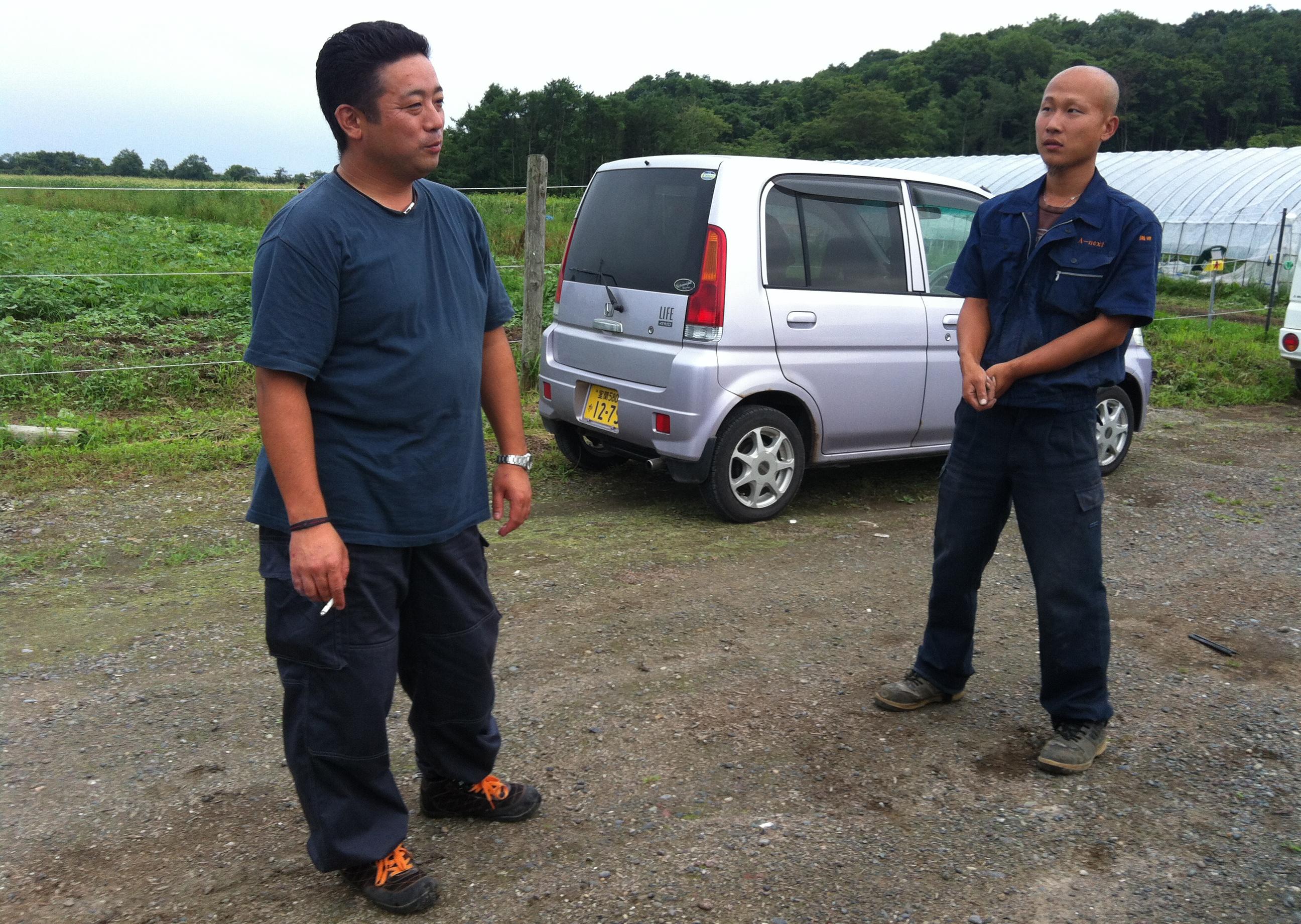 谷口君と社長。